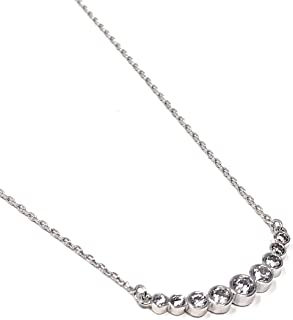Kate Spade Full Circle Pendant Necklace Silver Tone 16 inches + 3 in Extender