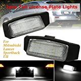 Mitsubishi Car Rear Tail Lamp - NSLUMO LED License Plate Lamp Bulb Replacement For OUTLANDER Lancer Sportback Auto Part accessories Light Assembly