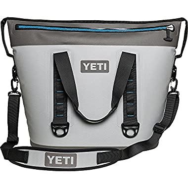 YETI Hopper Two 40 Portable Cooler, Fog Gray/Tahoe Blue