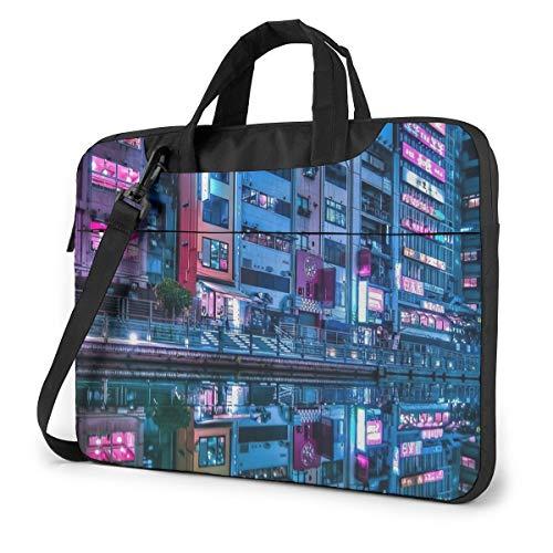 Osaka DotonboriFashion Oxford Schouder Schokbestendig Laptop Tas Schouder Messenger Handtas Case Sleeve Compatibel