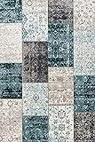 alfombra vintage azul