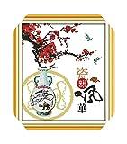 Kits de manualidades con punta de aguja  Encanto de porcelana Kit de punto de cruz 14ct 11ct Imprimir lienzo Costura Bordado DIY Costura hecha a mano-14ct Imprimir lienzo-
