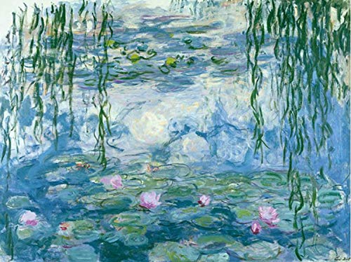 Zimal Claude Monet Water Lilies Embroidery Mosaic Pattern Wall Art Diamond Painting for Living