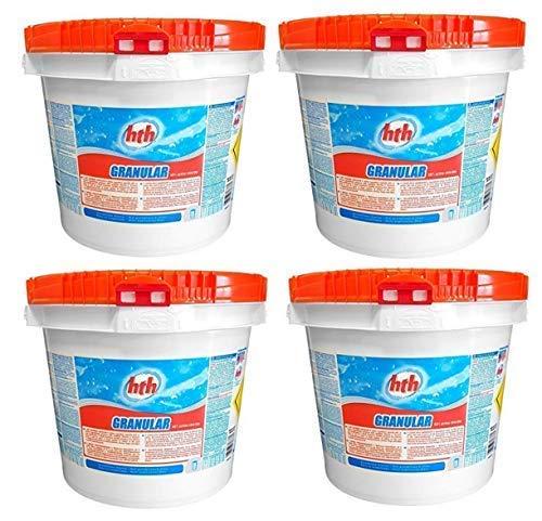 HTH Calciumhypochlorit Granulat - schnell lösliches + anorgisches Chlor mit 68% Aktivchlor 40 kg (4 x 10 kg)