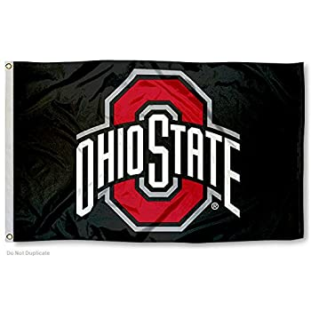 College Flags & Banners Co Ohio State Buckeyes Black Flag