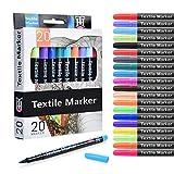 Siumir Rotuladores de Tela Permanentes 20 Colores Rotuladores Textil