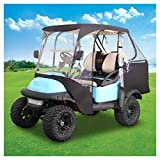 10L0L 2 Passenger Golf Cart Enclosures for Club Car Precedent with Security Side Mirror Openings, Waterproof Portable Transparent Golf Cart Cover Storage Driving Enclosure - 4-Sided Black