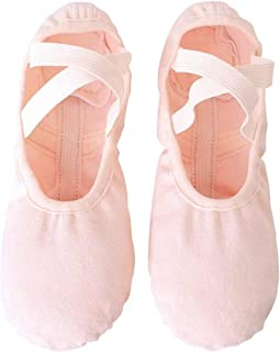 Ballet Slippers,Stretch Canvas Dance Ballet Shoes Slippers Flats Pumps for Girls Toddlers Kids (31)