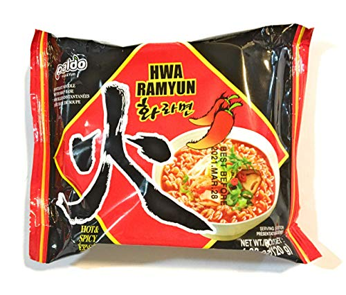 Paldo Hwa Ramyun Hot & Spicy Instant Noodle Soup 4.23 Oz(10 Pack)