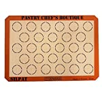 Silpat-Sasa-Demarle-Macarons-Premium-Non-Stick-Silicone-Baking-Mat-Big-Sheet-Pan-Size-23-Sheet-Pan-1358x-195-for-a-15×21-Sheet-Pan-28-Circles-by-Pastry-Chefs-Boutique