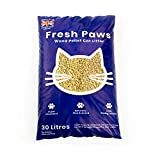 Fresh Paws Premium Wood Pellet Cat Litter, 30 L