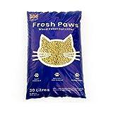 Fresh Paws Arena para Gatos de pellets de Madera Premium, 30 L