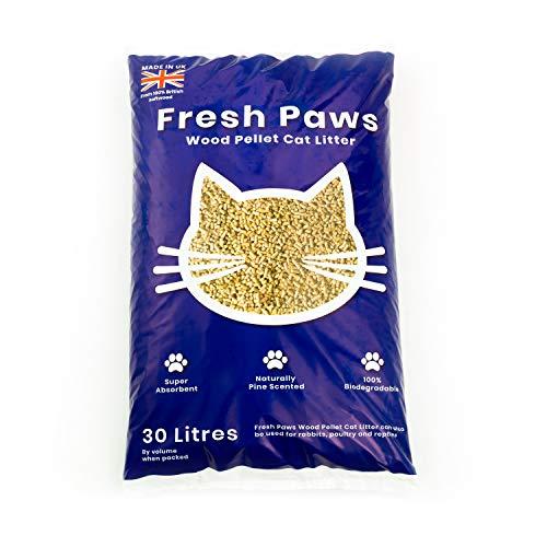 Fresh Paws Premium Wood Pellet Cat Litter, 30 L