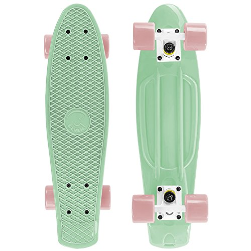 "Cal 7 22.5"" Complete Mini Cruiser Plastic Skateboard (Salsa)"