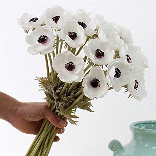 Ouzhoub Toque Real Flores Tacto Verdadero Artificial anémona de Flores Artificiales for...