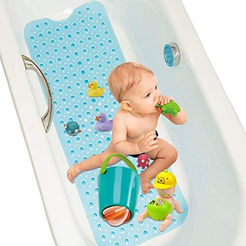 Alfombrilla de Baño, 40 * 100 cm Alfombrilla Antideslizante bañera De Baño,...