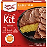 Duncan Hines Easy Cake Kit Golden Fudge Cake Mix, 8.4 OZ