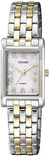 Citizen Women's MOP Two Tone Stainless Steel Rectangular Watch EJ6124-53D