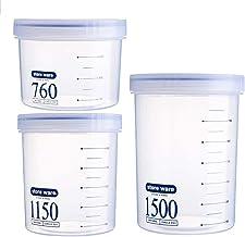 Nfudishpu Storage Box Sealed Grain Storage Container Moisture-Proof Food Nut Portable Transparent Plastic Milk Powder Kitc...