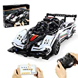 Leic Technic Pagani Zonda Building Block Model 457 Pieces 2.4G RC Racing Car Construction Set Compatible con Lego