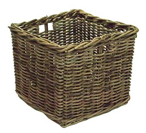 east2eden Kubu Rattan Wicker Strong Shelf Storage Cube Basket (Single Small)