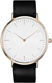 South Lane Stainless Steel Swiss-Quartz Watch with Leather Calfskin Strap, Black, 20 (Model: SS20-dr1-4924)