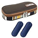 Goldwheat Portable Insulin Cooler Travel Case Diabetes Medication Organizer Medical Cooler Bag with 2 Ice Packs