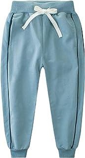 KISBINI Big Boy's Cotton Elastic Sweatpants Sports Pants for Children
