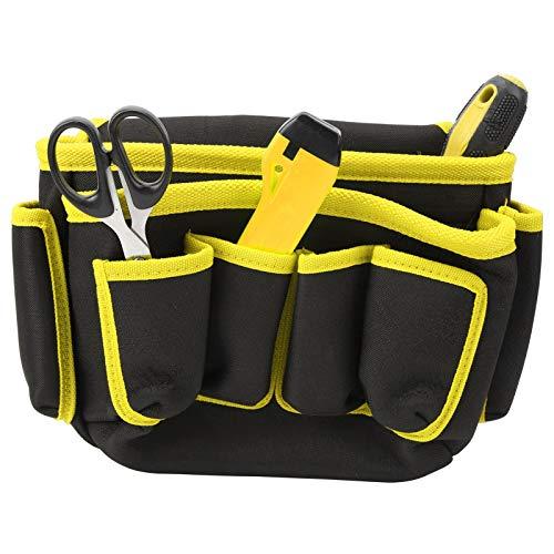 DAUERHAFT Bolsa Colgante Bolsa de cinturón para Herramientas Electricista bBag, para Acampar(Yellow Edge)