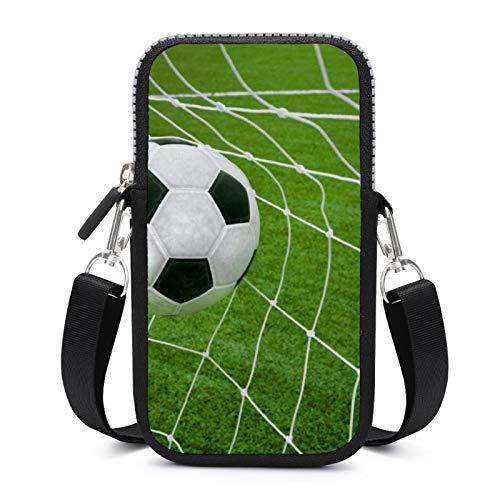 Bolso bandolera para teléfono celular con correa extraíble para el hombro campos de fútbol, anticaídas, funda para dinero, brazalete de gimnasio, bolsas de fitness para niños