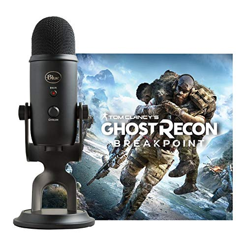 Blue Streamer Bundle with Blackout Yeti USB Microphone & Tom Clancy's Ghost Recon Breakpoint PC Digital Standard Version