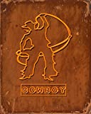 COWBOY: 8x10 inches CALENDAR : 365 days : one day per page : cowboy with lasso