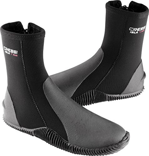 Cressi Tall Neoprene Boots for Snorkeling, Scuba Diving, Canyoning, Available in Neoprene 5 & 7 mm   Isla: Designed in Italy