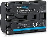 Batería Blumax NP-FM-500H 1650mAh | para cámara Sony Alpha DSLR/SLT serie a57 a58 a68 a77/ ii a99 / ii batería iones de litio | 7,4V 12,2Wh
