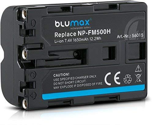 Blumax Akku ersetzt Sony NP-FM500H (1650mAh) | kompatibel mit Sony Alpha DSLR/SLT Serie EVO II a57 a58 a68 a77/ ii a99 / ii Batterie | 7,4V 12,2Wh
