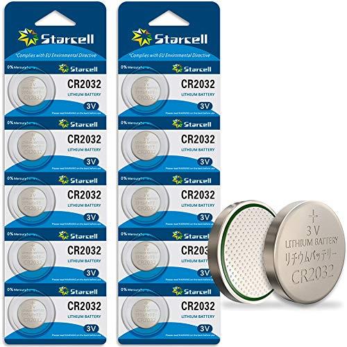 Starcell CR2032 Lithium-Batterie, 3 V, CR 2032, 10 Stück