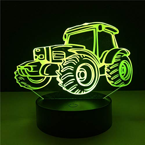 YDBDB 3D Led Night Light 7 Cambia colore Cool Dune Beach Buggy Car Desk Tavolo Lava Lampara Rc Control Kid Boy regalo di Natale