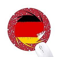 ドイツの国旗マップパターン 円形滑りゴムの赤のホイールパッド
