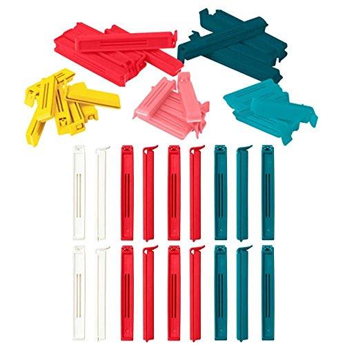 Ikea BEVARA Abdichtung Tütenclips sortierte Farben 50count