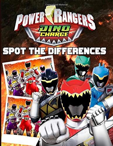 Power Ranger Dino Charge Spot The Difference: Power Ranger Dino Charge Activity Picture Puzzle Books For Adults, Tweens Anxiety