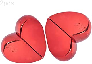 2Pcs Heart-shaped Portable Mini Refillable Perfume Scent Aftershave Atomizer Empty 20mlSpray Bottle, Fits In Your Purse, Pocket or Luggage