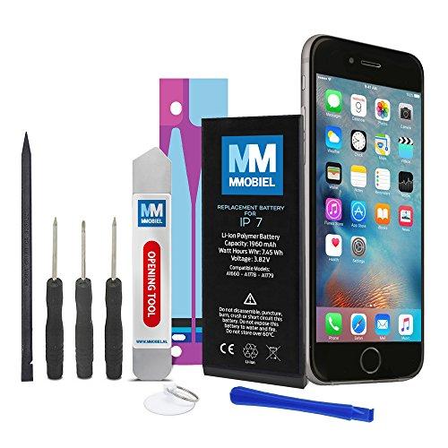 MMOBIEL Akku kompatibel mit iPhone 7 Li-Ion Batterie 1960 mAh 7.45 Wh mit professionellem Werkzeugset und Anleitung
