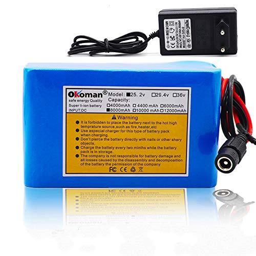 6s3p 24V 8Ah Batería Batería De Litio 25,2v 8000mAh Bicicl