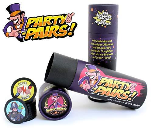 PARTY-PAIRS! El juego para beber MEMO – Juego de fiesta | Juego de cerveza | Idea de regalo para cumpleaños | Festival