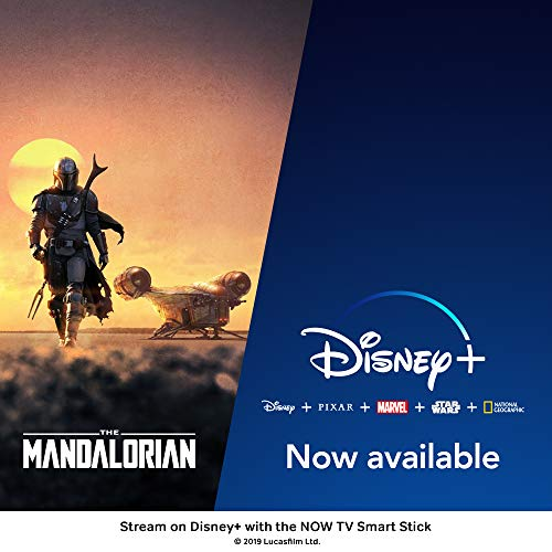 NOW TV Smart Stick with 1 month Entertainment Pass, 1 month Sky Cinema Pass + Sky Sports Day Pass | HD Streaming Media Player – Watch Disney+, YouTube, Netflix, BBC iPlayer and more