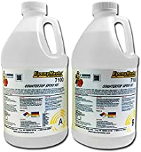 Epoxy Resin One Gallon Unit - EpoxyMaster Crystal Clear Countertop Epoxy Resin - Two Part Kit - Provides High Grade Epoxy Coating for All Countertop Types