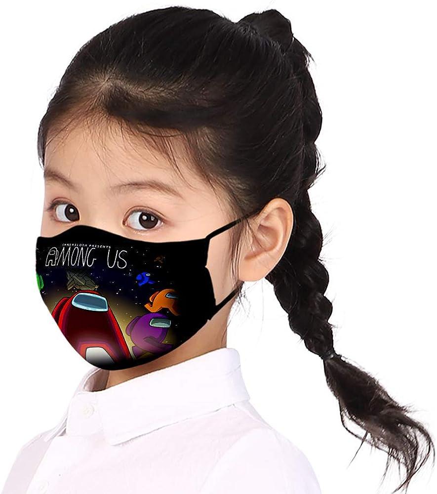 Baonmy Among Us Unisex waschbare wiederverwendbare Gesichtsdekorationen geeignet f/ür Kinder