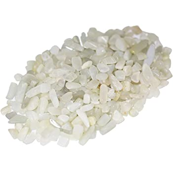 Natural White Rainbow moonstone Tumbled Beads Size 10-15mm Length 8 inches