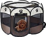 Corral portátil plegable para mascotas, FayTun jaula de 8 paneles para perros y gatos, tienda de campaña plegable y portátil para perros y gatos (28