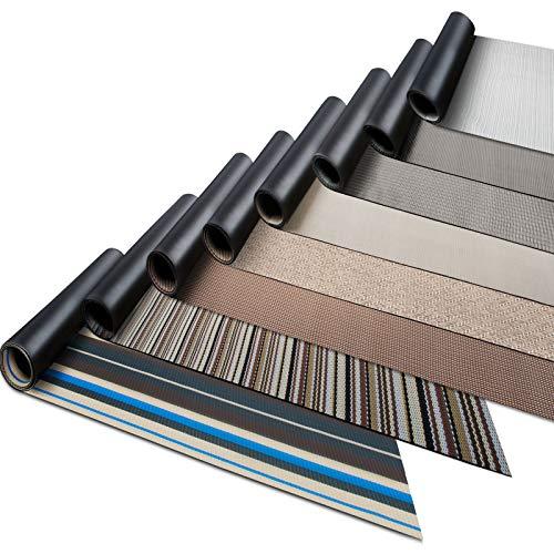 Tapis de cuisine casa pura® tapis PVC très résistant   entretien facile   design et tailles au choix   tapis anthracite damier, 90x100cm